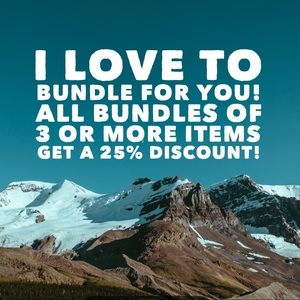 Bundle deal! 25% all items when bundling 3 or more